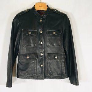 Nicola Berti Leather jacket Black Maderin Small